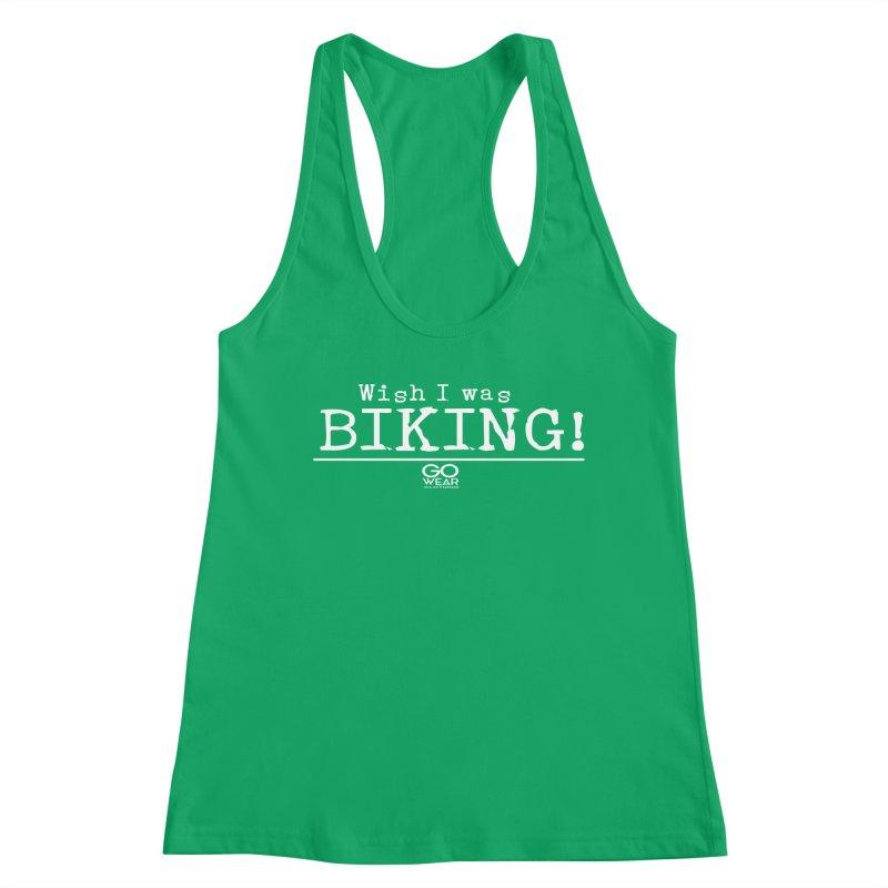 Wish I was Biking Darks Women's Tank by tmographics custom designs