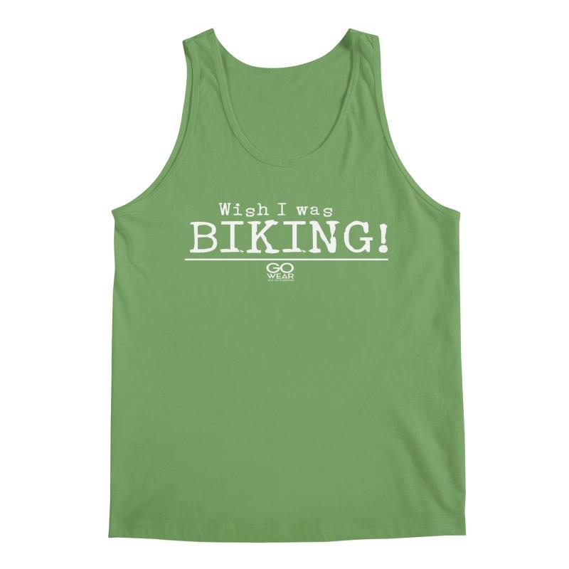 Wish I was Biking Darks Men's Tank by tmographics custom designs
