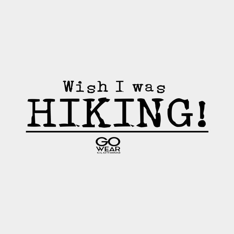 Wish I was Hiking Lights Women's V-Neck by tmographics custom designs