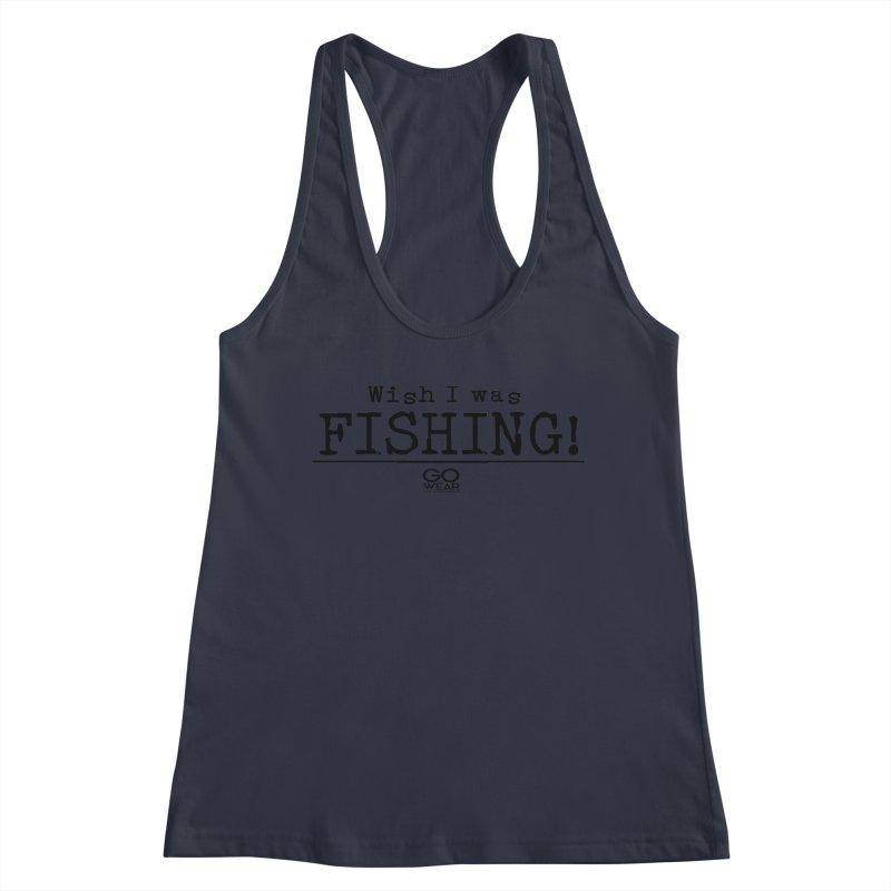 Wish I was Fishing Lights Women's Tank by tmographics custom designs