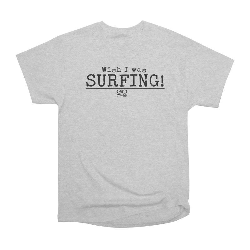 Wish I was Surfing Lights Men's T-Shirt by tmographics custom designs