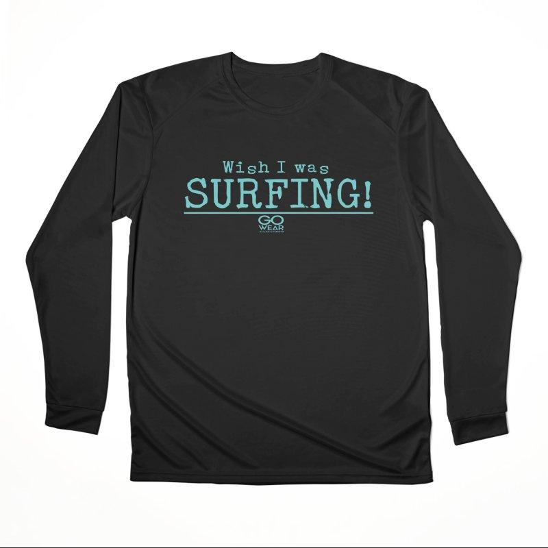 Wish I was Surfing Darks Men's Longsleeve T-Shirt by tmographics custom designs