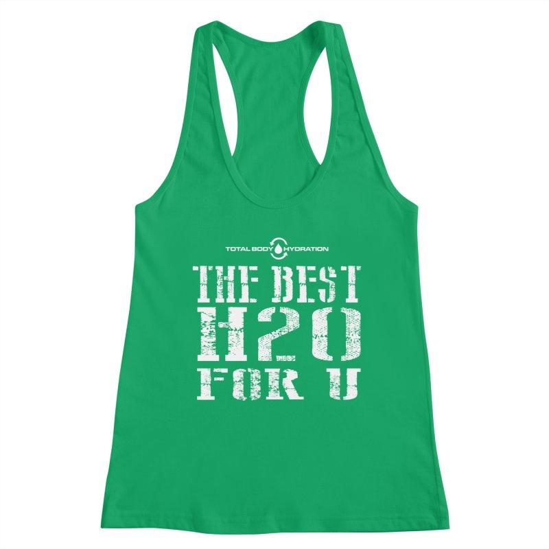 Best H2O For You Tee Dark Women's Tank by tmographics custom designs