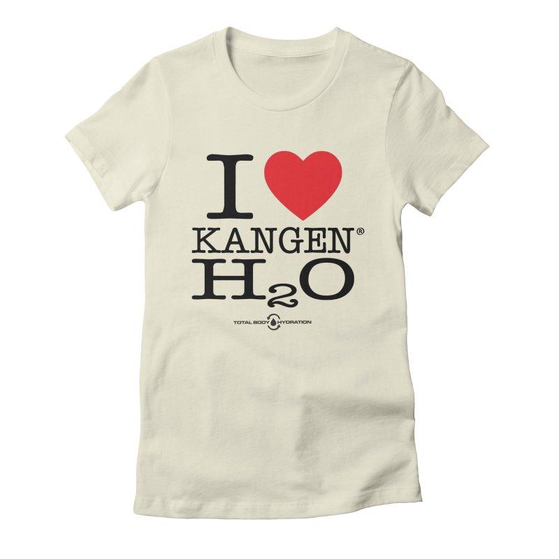 I Love Kangen H2O Tee Women's T-Shirt by tmographics custom designs