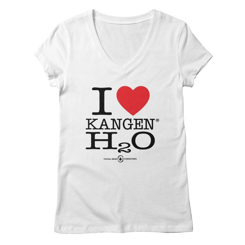 I Love Kangen H2O Tee Women's V-Neck by tmographics custom designs