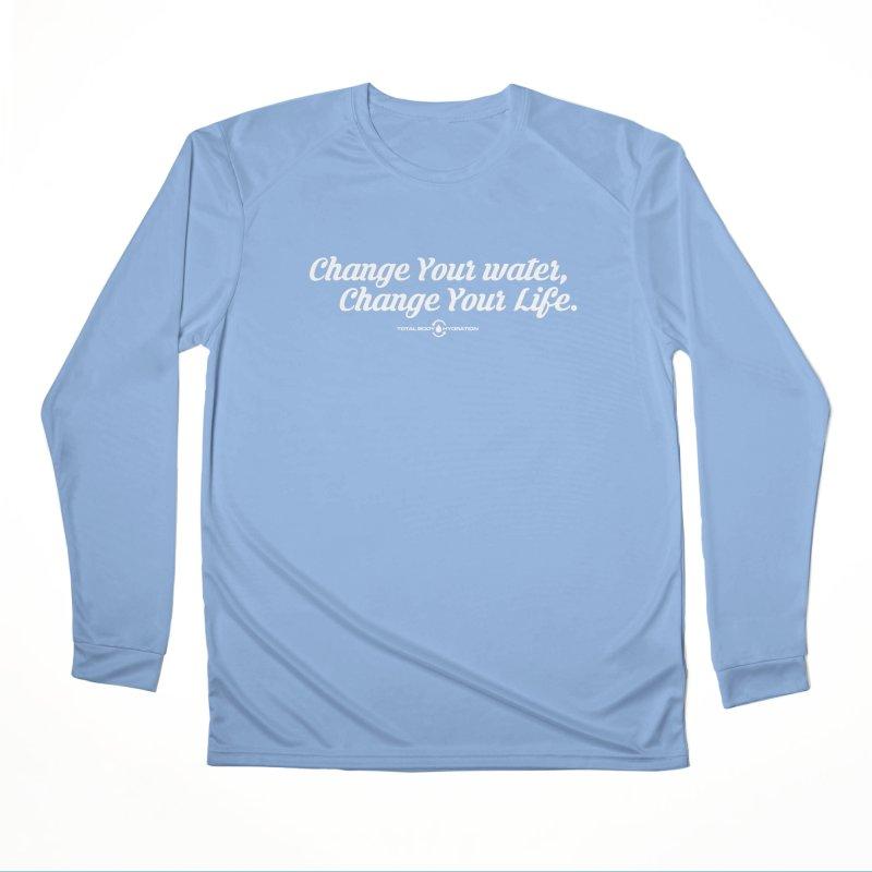 Change Your Water Script Tee Men's Longsleeve T-Shirt by tmographics custom designs