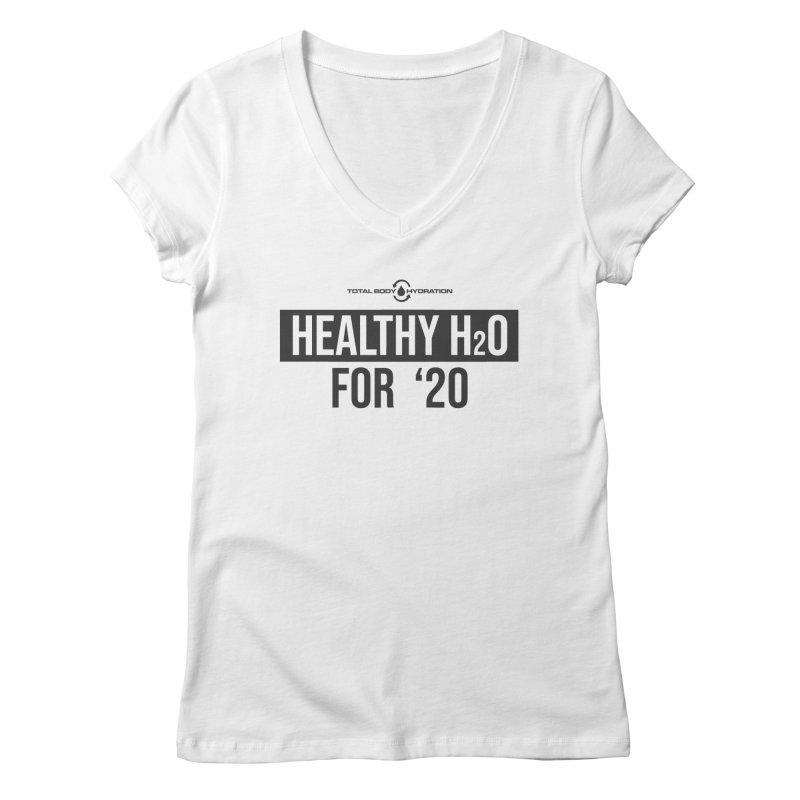 H2O for '20 Tee Lights Women's V-Neck by tmographics custom designs
