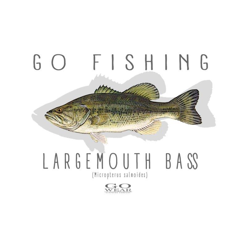 GO Wear - Go Fishing Bass Tee Men's T-Shirt by tmographics custom designs