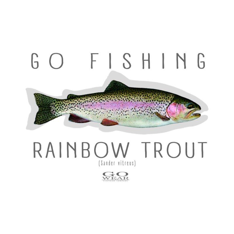 GO Wear - Go Fishing Rainbow Tee Men's T-Shirt by tmographics custom designs