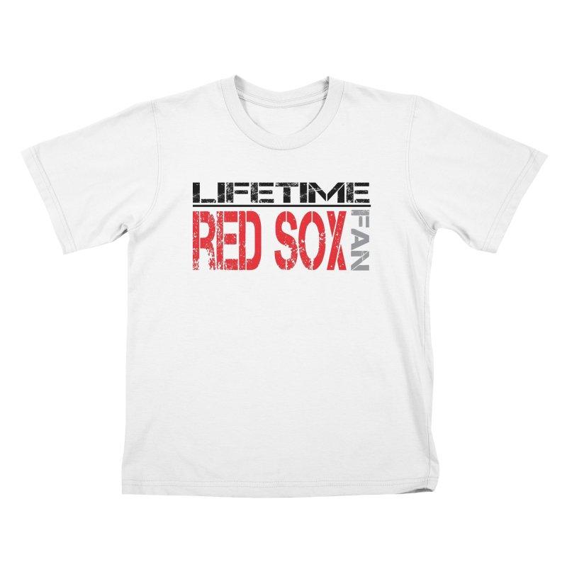 Red Sox Life Tee Lights Kids T-Shirt by tmographics custom designs