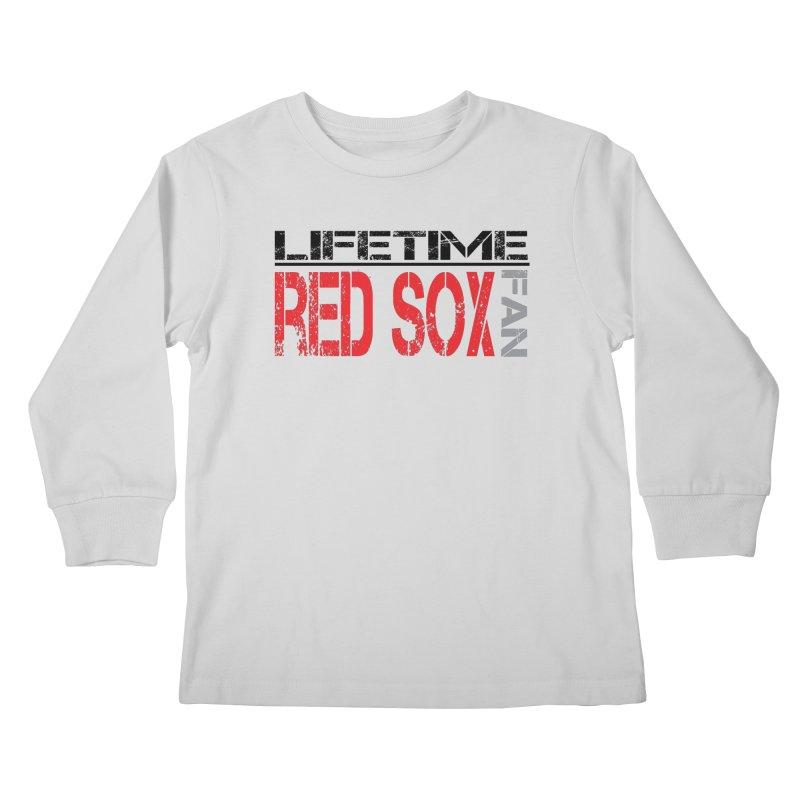 Red Sox Life Tee Lights Kids Longsleeve T-Shirt by tmographics custom designs