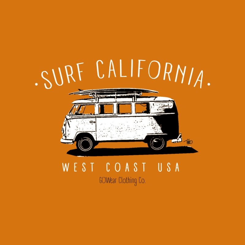 Classic California - VW Bus Surf Kids T-Shirt by tmographics custom designs