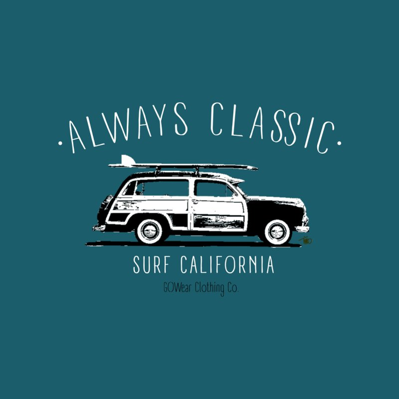 Classic California - Woody Surf Kids T-Shirt by tmographics custom designs