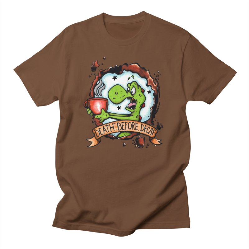 Decaf in Men's Regular T-Shirt Brown by tmoney's Artist Shop