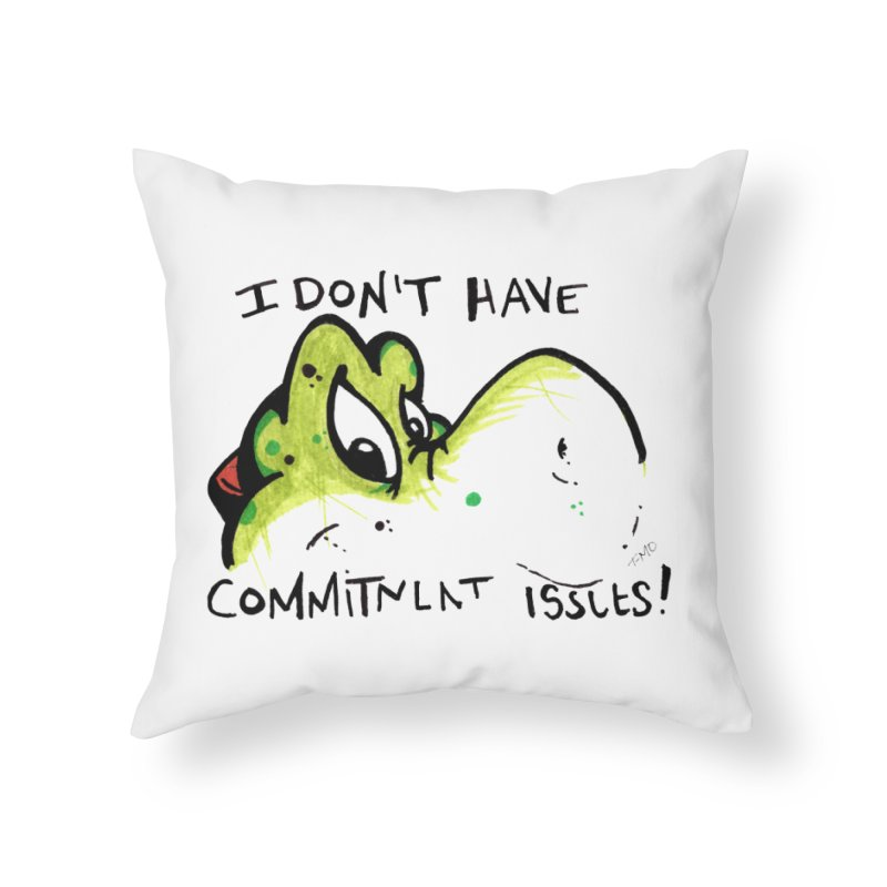 Issues Home Throw Pillow by tmoney's Artist Shop