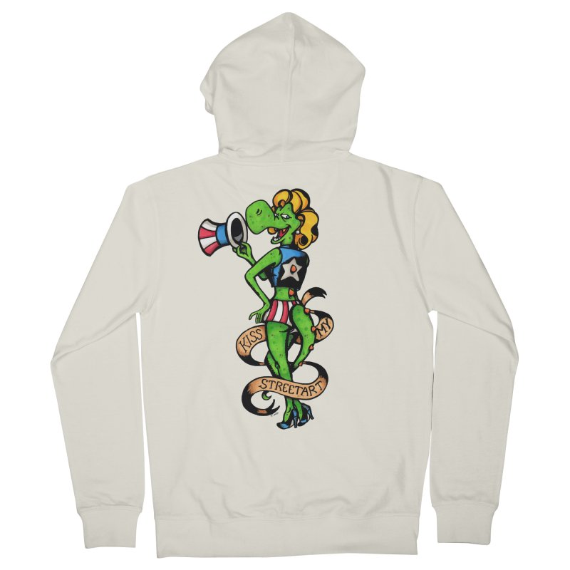 Kiss Women's French Terry Zip-Up Hoody by tmoney's Artist Shop