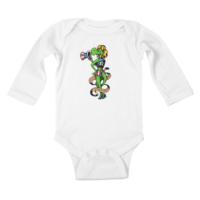 Kiss Kids Baby Longsleeve Bodysuit by tmoney's Artist Shop