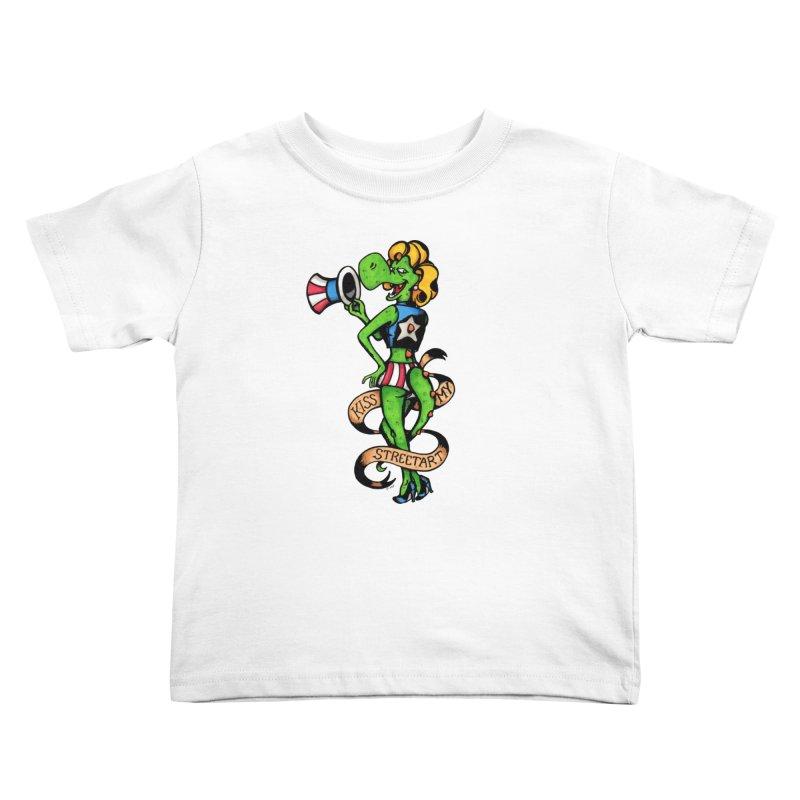 Kiss Kids Toddler T-Shirt by tmoney's Artist Shop