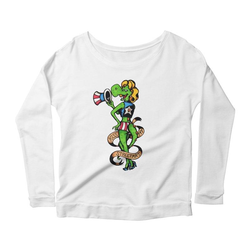 Kiss Women's Scoop Neck Longsleeve T-Shirt by tmoney's Artist Shop