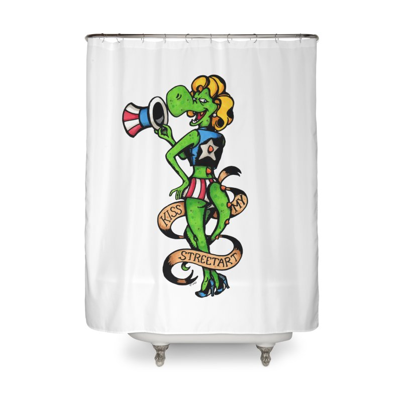 Kiss Home Shower Curtain by tmoney's Artist Shop