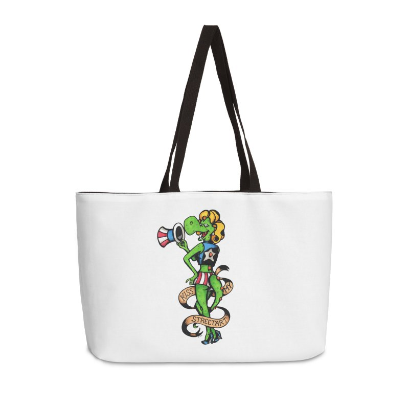 Kiss Accessories Weekender Bag Bag by tmoney's Artist Shop