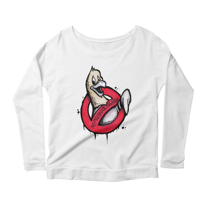 Pigeonholing  Women's Scoop Neck Longsleeve T-Shirt by tmoney's Artist Shop