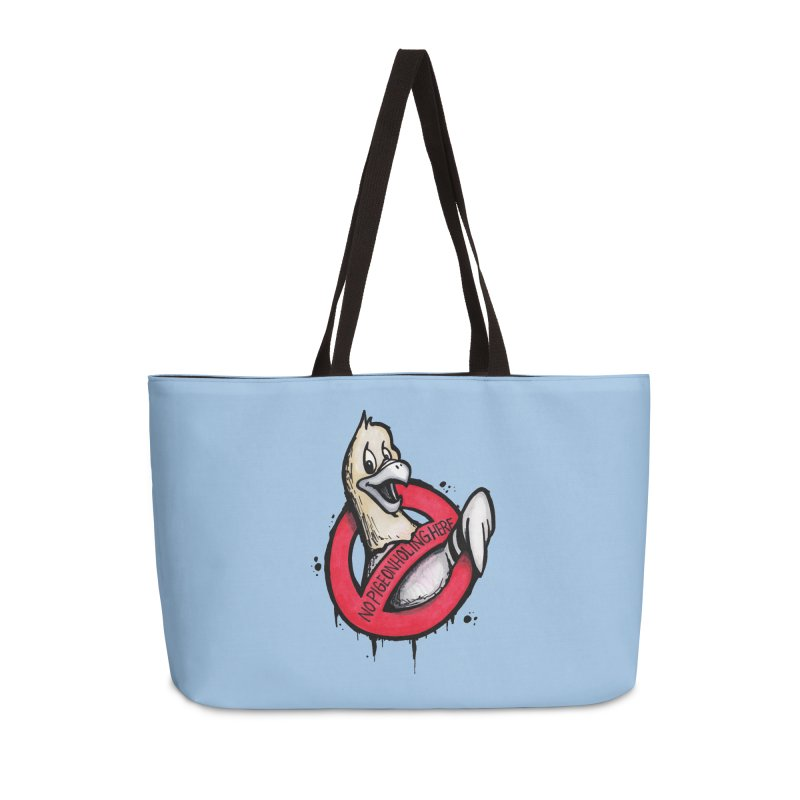 Pigeonholing  Accessories Weekender Bag Bag by tmoney's Artist Shop