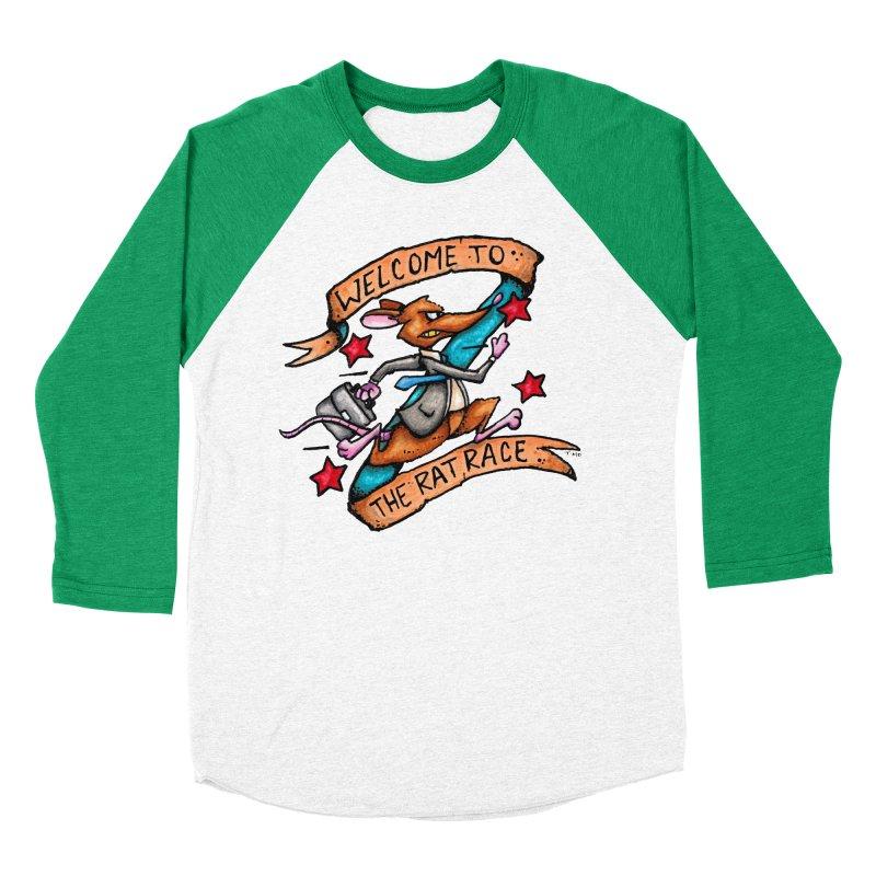 Ratrace Women's Baseball Triblend Longsleeve T-Shirt by tmoney's Artist Shop