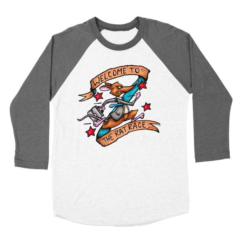 Ratrace Men's Baseball Triblend Longsleeve T-Shirt by tmoney's Artist Shop