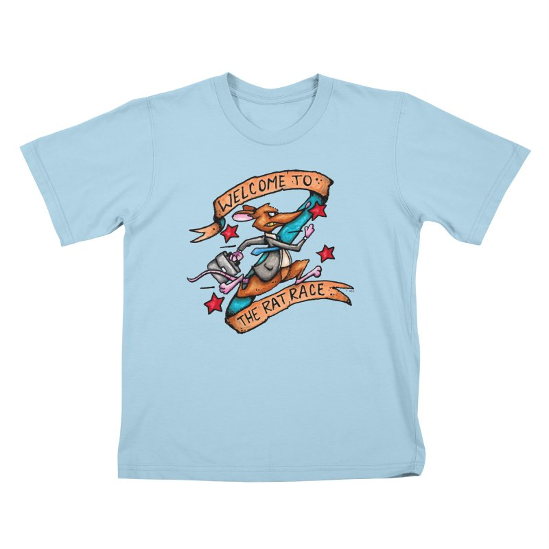 Ratrace Kids T-Shirt by tmoney's Artist Shop