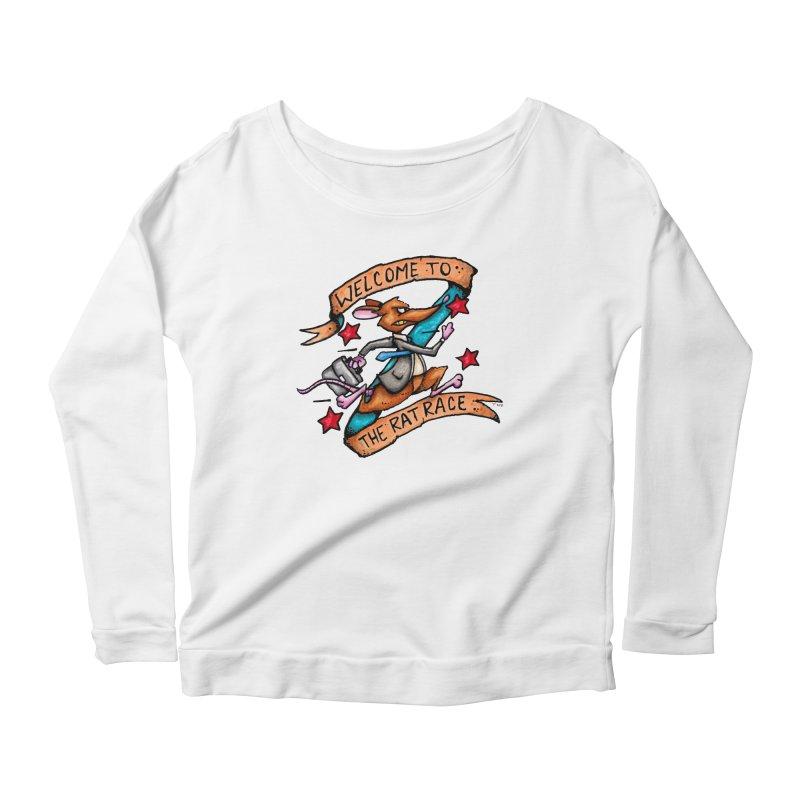 Ratrace Women's Scoop Neck Longsleeve T-Shirt by tmoney's Artist Shop