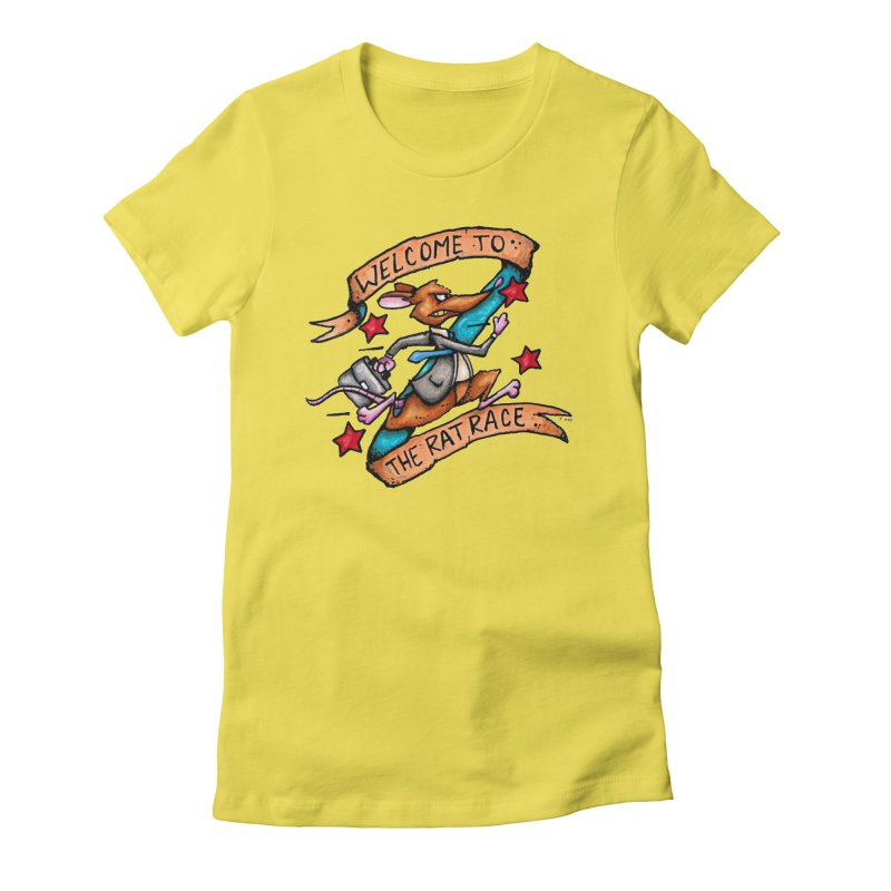 Ratrace Women's Fitted T-Shirt by tmoney's Artist Shop