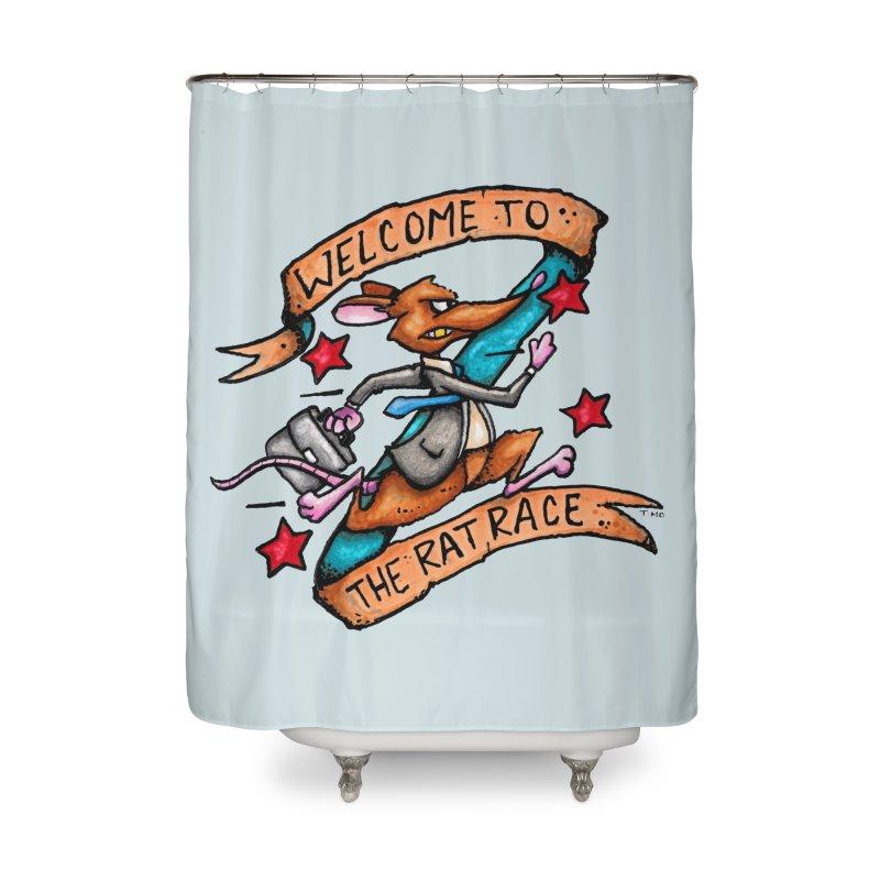 Ratrace Home Shower Curtain by tmoney's Artist Shop
