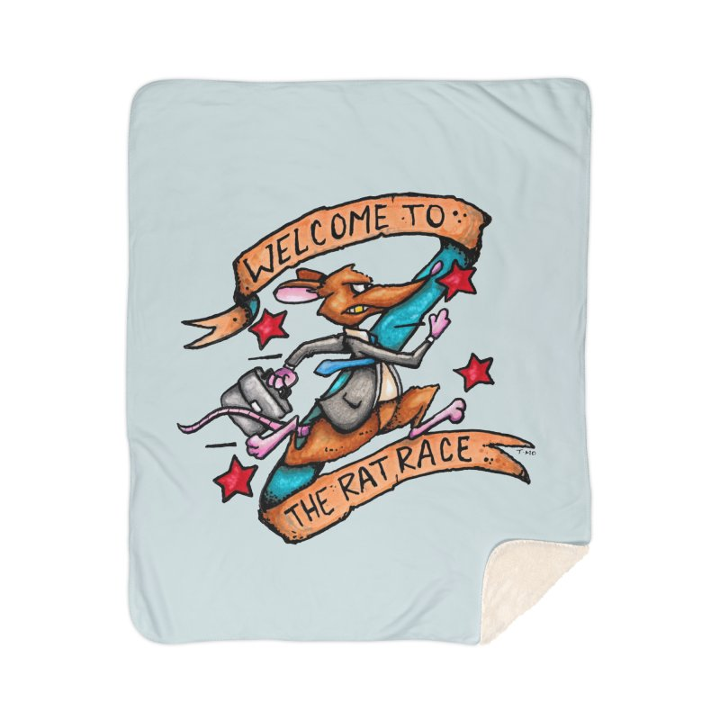Ratrace Home Sherpa Blanket Blanket by tmoney's Artist Shop