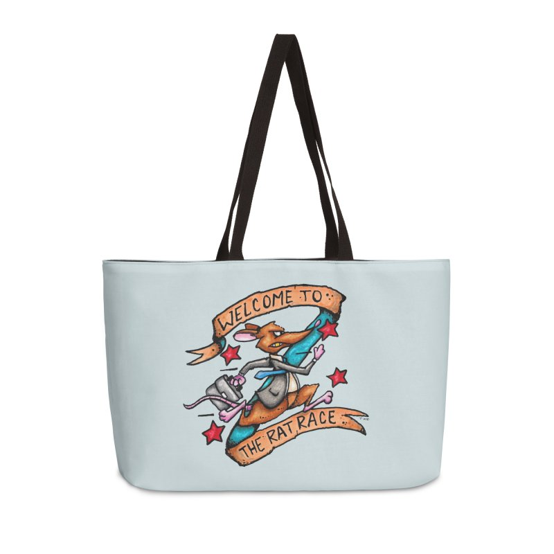Ratrace Accessories Weekender Bag Bag by tmoney's Artist Shop