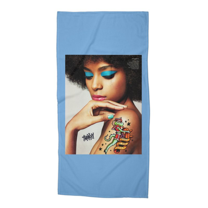Steady Accessories Beach Towel by tmoney's Artist Shop