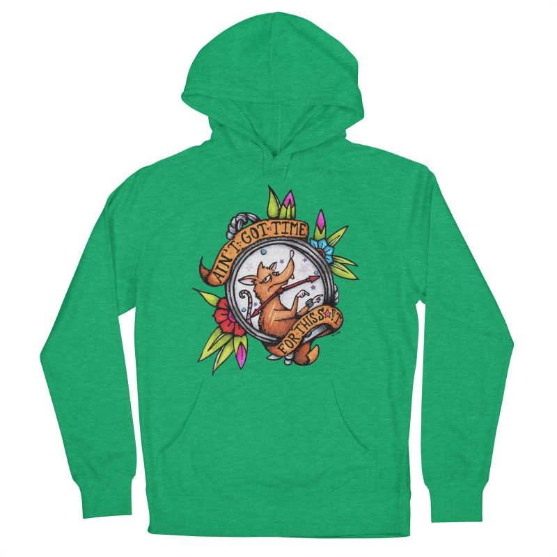 Time in Men's French Terry Pullover Hoody Heather Kelly by tmoney's Artist Shop