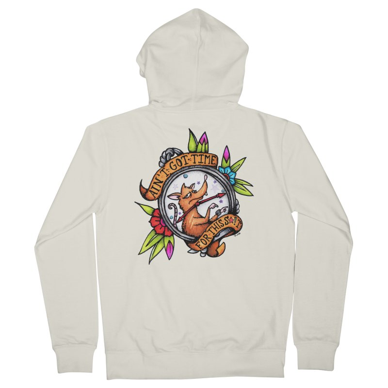 Time Women's French Terry Zip-Up Hoody by tmoney's Artist Shop