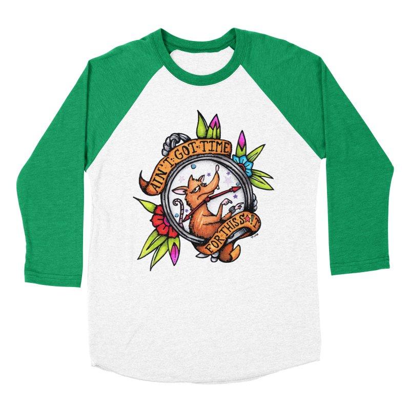 Time Women's Baseball Triblend Longsleeve T-Shirt by tmoney's Artist Shop