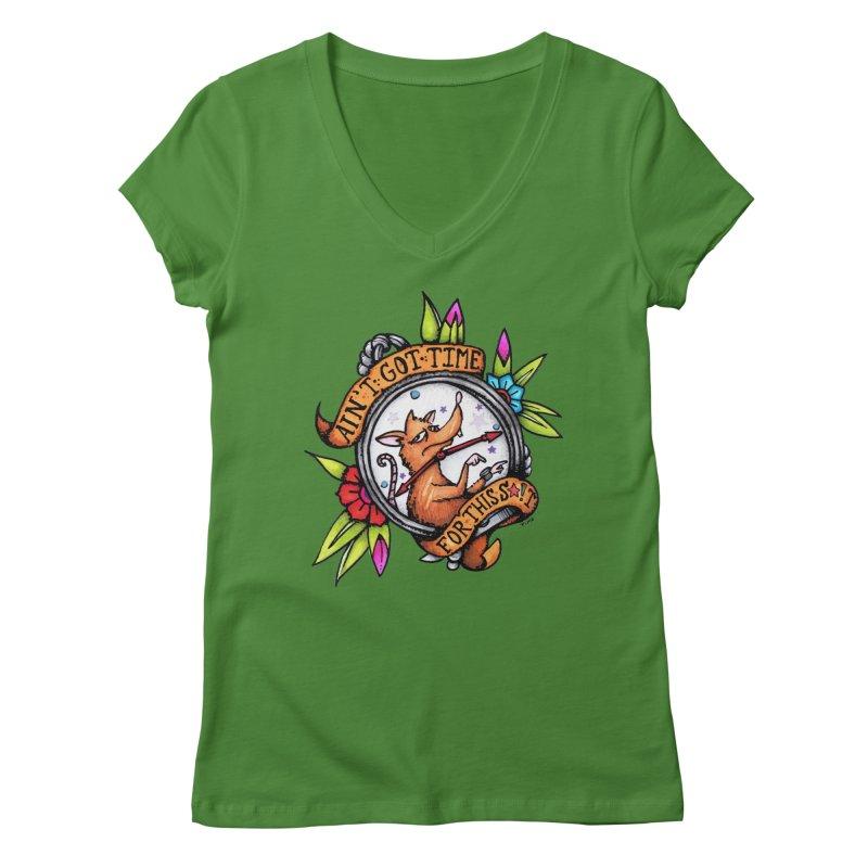Time Women's Regular V-Neck by tmoney's Artist Shop