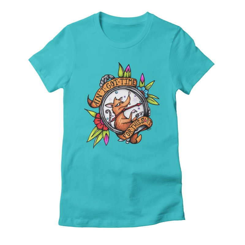 Time Women's Fitted T-Shirt by tmoney's Artist Shop