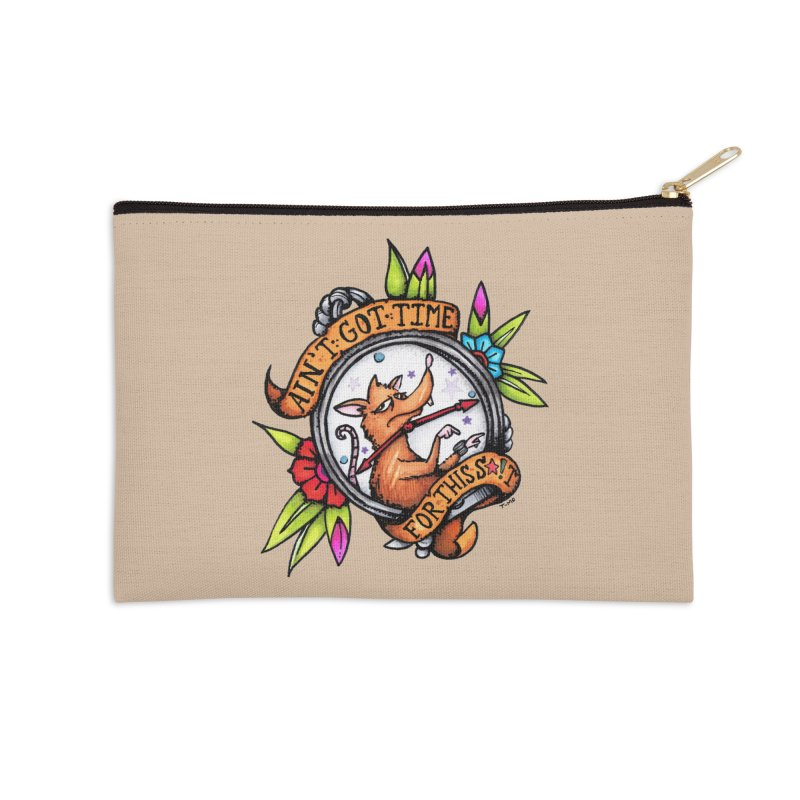 Time Accessories Zip Pouch by tmoney's Artist Shop