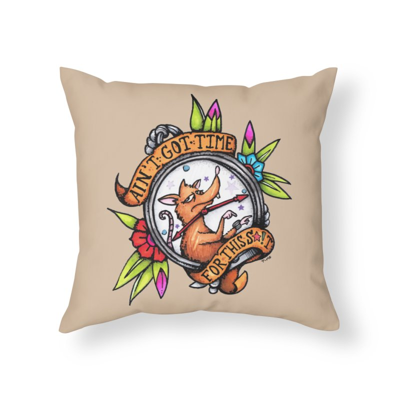 Time Home Throw Pillow by tmoney's Artist Shop
