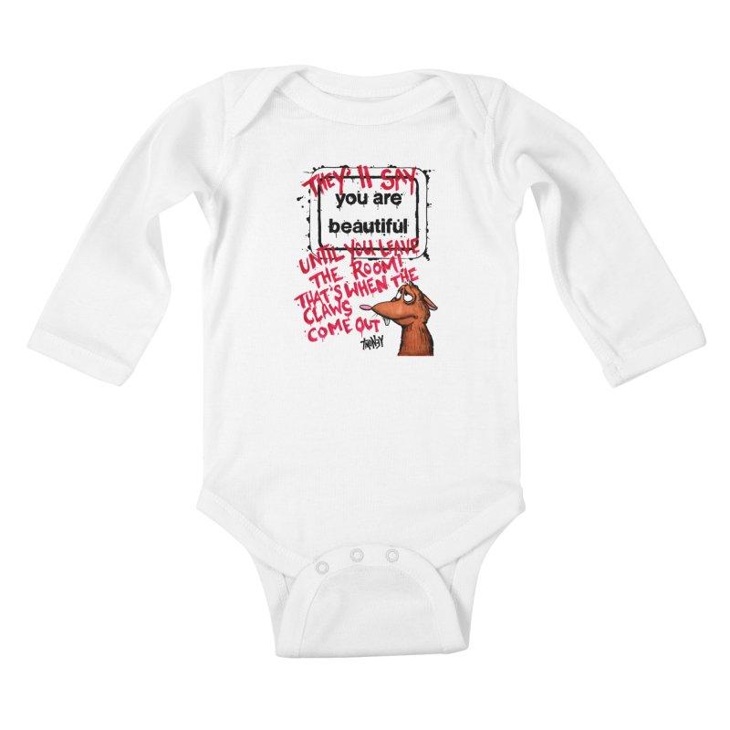 YAB Kids Baby Longsleeve Bodysuit by tmoney's Artist Shop