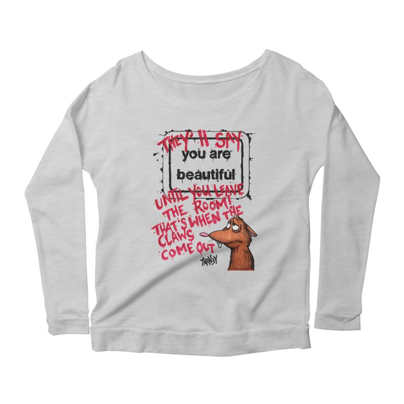 YAB Women's Scoop Neck Longsleeve T-Shirt by tmoney's Artist Shop