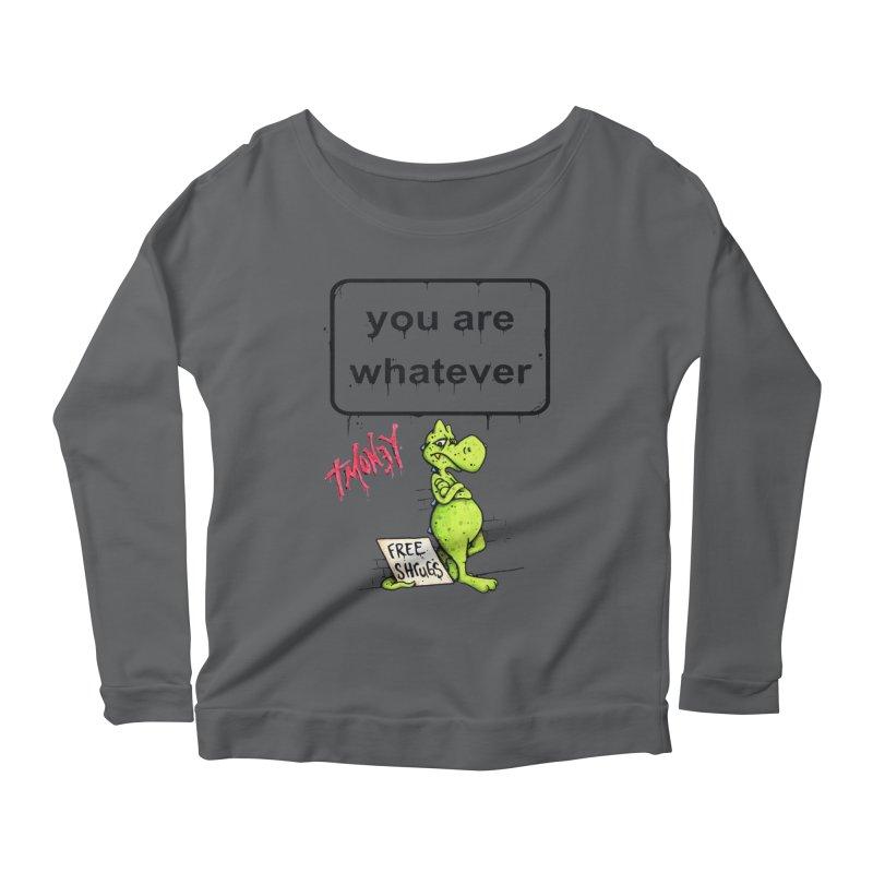 YAW Women's Scoop Neck Longsleeve T-Shirt by tmoney's Artist Shop