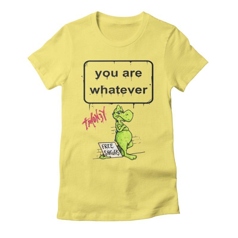 YAW Women's Fitted T-Shirt by tmoney's Artist Shop