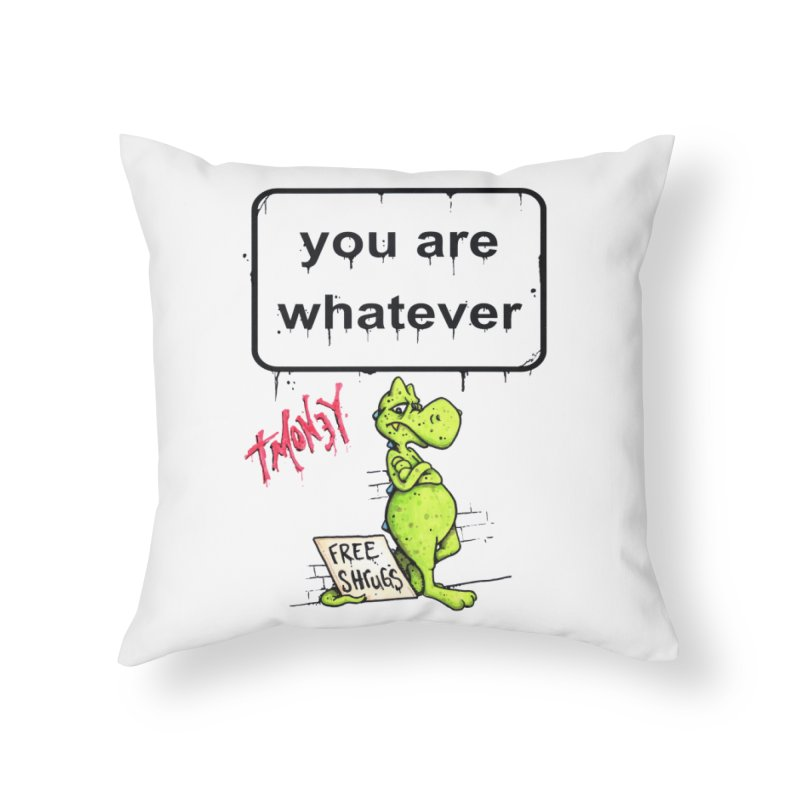 YAW Home Throw Pillow by tmoney's Artist Shop
