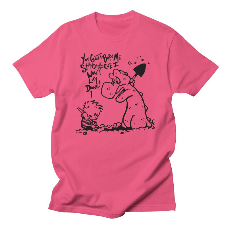 Bury Me Standing  in Men's Regular T-Shirt Fuchsia by tmoney's Artist Shop