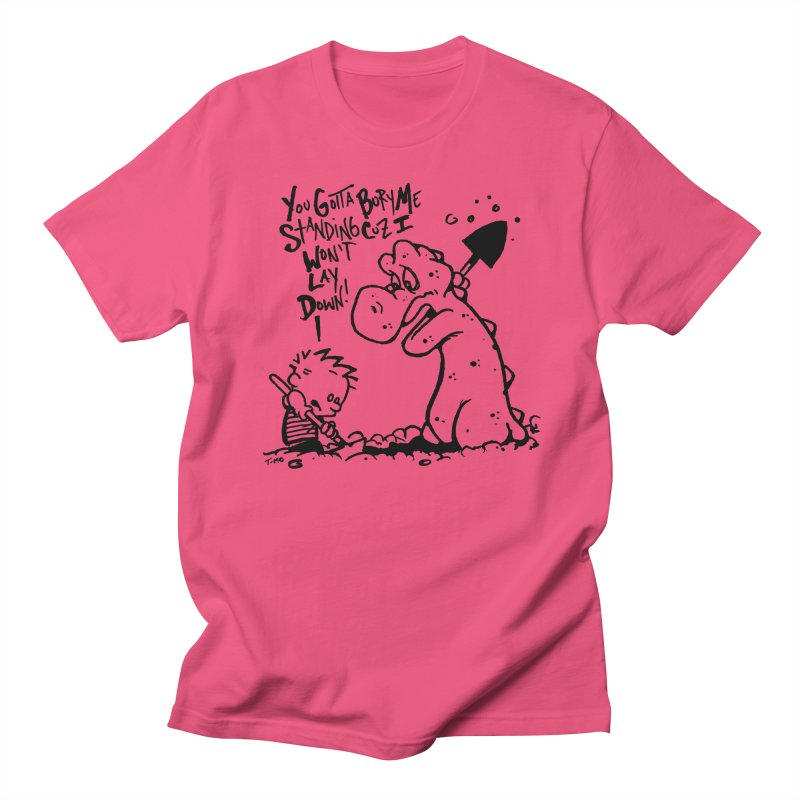 Bury Me Standing  in Men's Regular T-Shirt Fuchsia by tmoney's Artist Shop